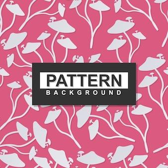 Kwieciste dzikie pieczarki w papierowym sztuki tła wzorze