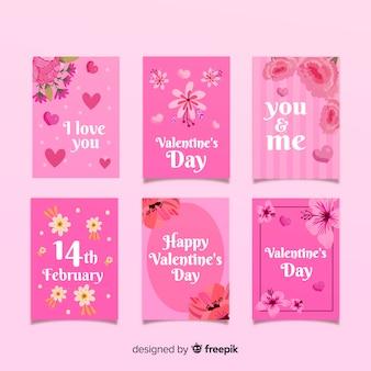Kwieciste valentine karty