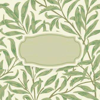 Kwiecisty tło z centrowaną ornamentacyjną ramą