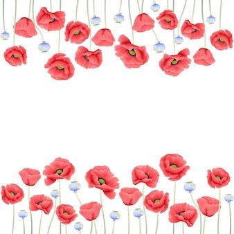 Kwiecisty tło z makowym kwiatem