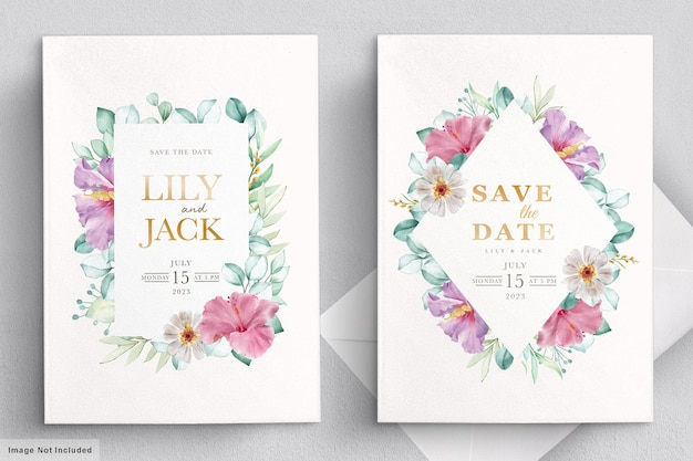 Kwitnąca karta kwiatowy ślub ramki