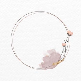 Kwitnąca okrągła kwiecista rama