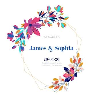 Kwitnące kwiaty zapisz datę ślubu