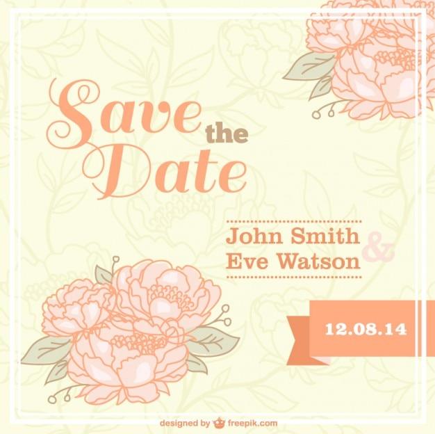 Kwitnące vintage karty ślub