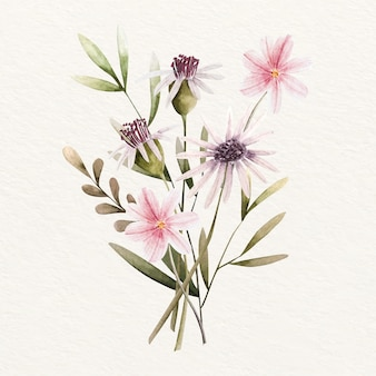 Kwitnący rocznik kwiatowy bukiet