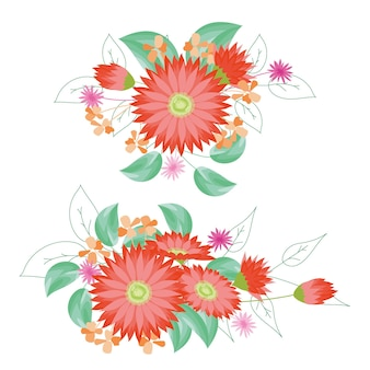 Kwitnie bukiety dalii kwiatowe