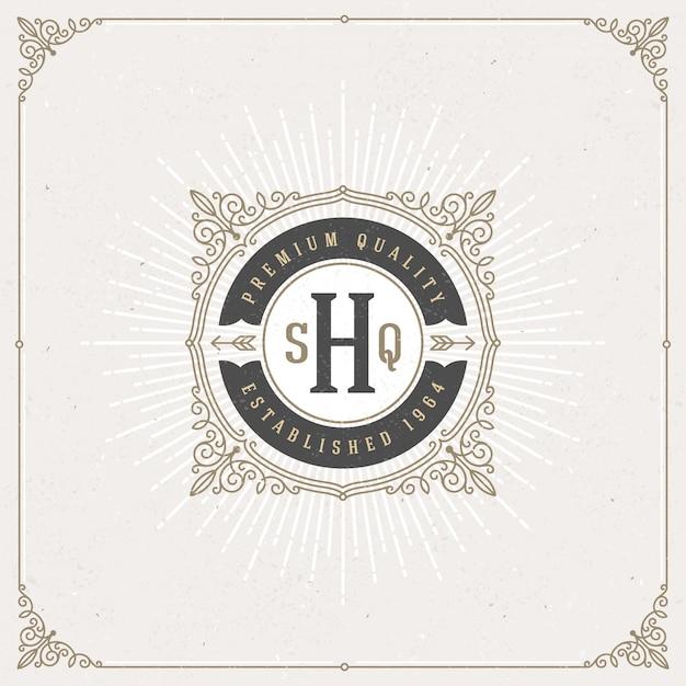 - kwitnie monogram logo. projekt tożsamości dla kawiarni, sklepu, sklepu, restauracji, butiku, hotelu, heraldycznego, mody itp.