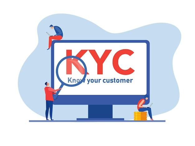 Kyc lub poznaj swojego klienta z biznesem weryfikującym tożsamość