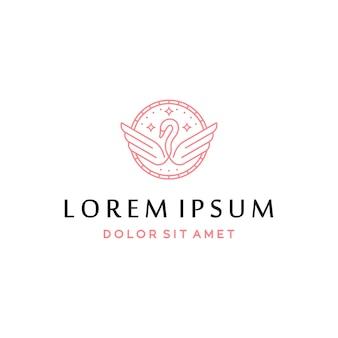 Łabędź logo i ikona koncepcja