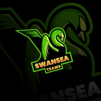 Łabędzie maskotka logo esport logo team obrazy stockowe