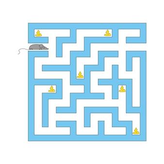 Labirynt abstact. gra edukacyjna dla dzieci. puzzle dla dzieci.
