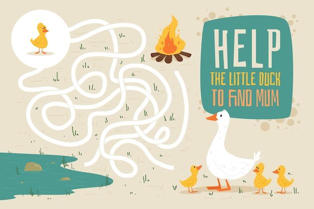 Labirynt dla dzieci ilustracja