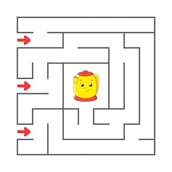 Labirynt. gra dla dzieci. zabawny labirynt. arkusz rozwijający edukację. strona aktywności.