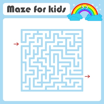 Labirynt. gra dla dzieci. zabawny labirynt. arkusz rozwijający edukację.