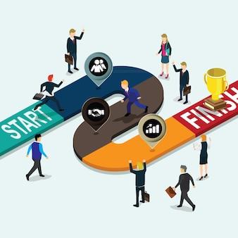 Labirynt grafiki biznesowej labiryntu uruchomić
