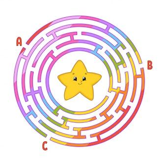 Labirynt koła. gra dla dzieci. puzzle dla dzieci.