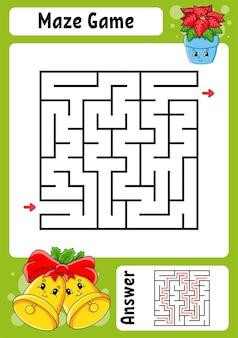 Labirynt kwadratowy. gra dla dzieci.