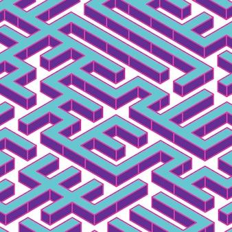 Labirynt lub labirynt geometryczny wektor wzór. pomysł lub koncepcja podejmowania decyzji