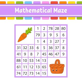 Labirynt matematyczny.