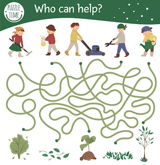 Labirynt ogrodowy dla dzieci
