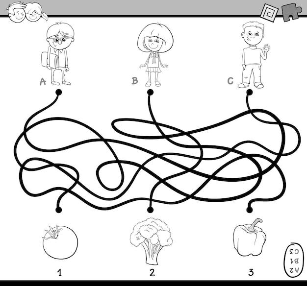 Labirynt puzzle kolorowanka
