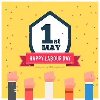 Labor day tle z rąk i odznaki