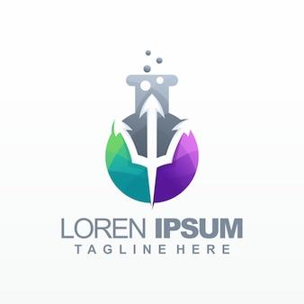 Laboratorium gradientu logo wektor, szablon, ilustracja