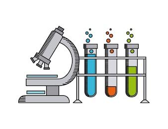 Laboratorium naukowe projekt, wektorowa ilustraci eps10 grafika