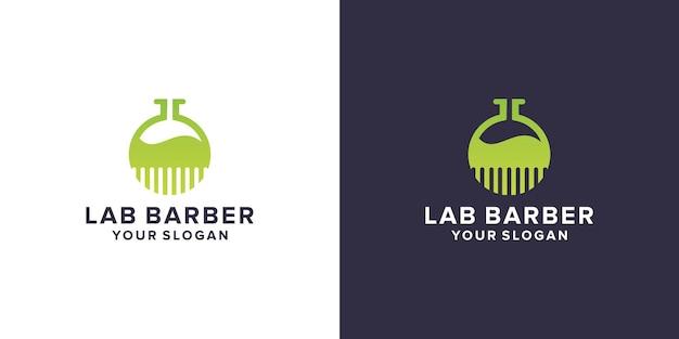 Laboratorium z logo fryzjera