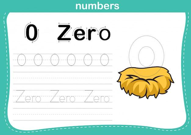 Łączenie kropki i ćwiczenie numerów do druku