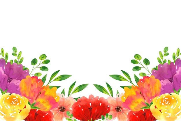 Ładna akwarela tapetą z motywem kwiatowym