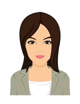 Ładna azjatycka kobiety twarz w wektorze