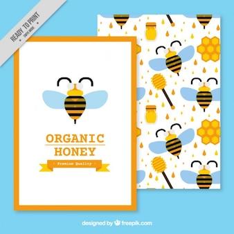 Ładna broszura organicznym miodem