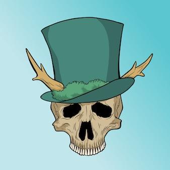 Ładna czaszka z kapeluszem