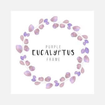 Ładna i czysta kwiatowa rama eukaliptusa