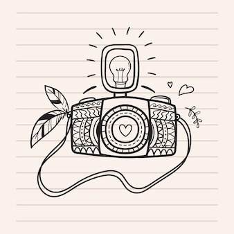 Ładna ilustracja aparatu