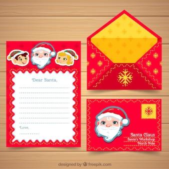 Ładna kartka bożonarodzeniowa z kopertą
