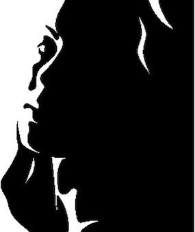 Ładna kobieta w 2 czarno-biały