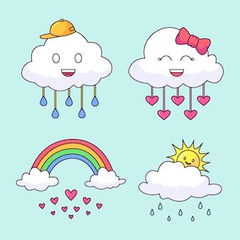Ładna kolekcja elementów dekoracyjnych chuva de amor