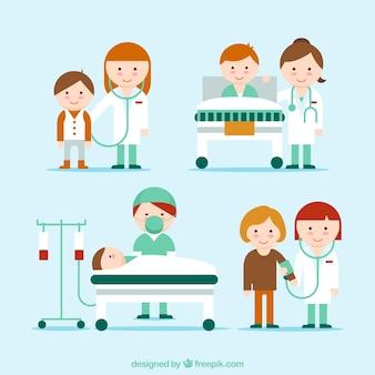 Ładna kolekcja sytuacji medycznej
