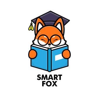 Ładna książka do czytania lisa
