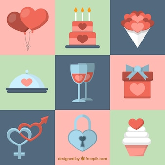 Ładne elementy valentines day