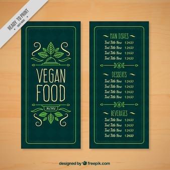 Ładne i proste wyciągnąć rękę menu dla restauracji wegetariańskiej