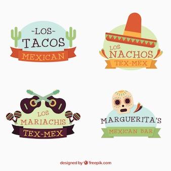 Ładne meksykański logotypy