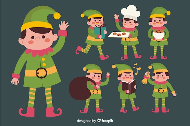 Ładne paczki świąteczne elfy