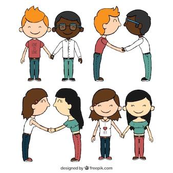 Ładne pary homoseksualne w miłości