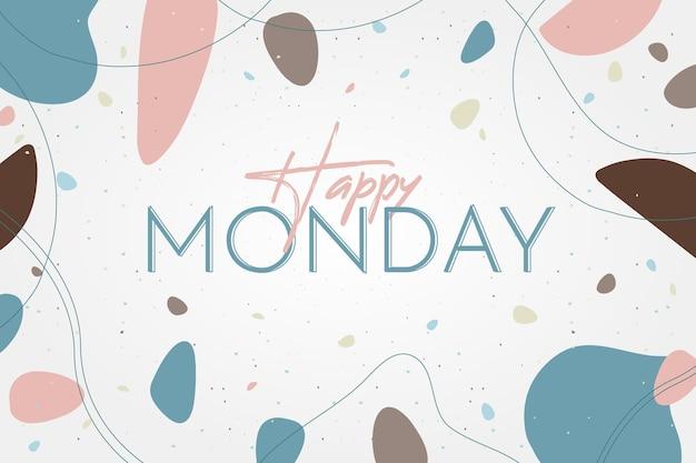 Ładne szczęśliwe tło poniedziałek