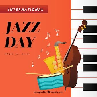 Ładne tło dla międzynarodowego dnia jazzu