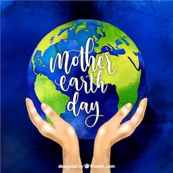 Ładne tło dla międzynarodowego dnia ziemi