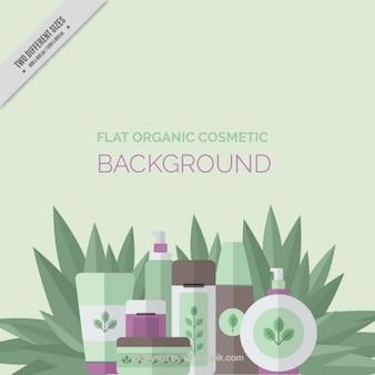 Ładne tło organiczne kosmetyki